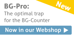 BG-Pro trap is optimized for the use with the BG-Counter